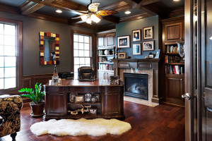 Custom home building is all about designing the perfect home for you including your home office.