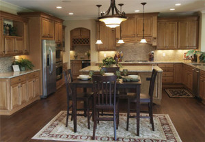 Luxury kitchen features make living easier and better.